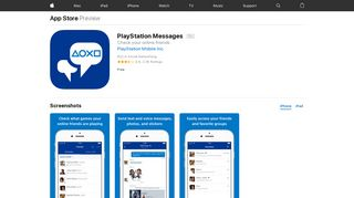 PlayStation Messages on the App Store - iTunes - Apple