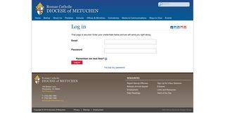Log in » Diocese of Metuchen