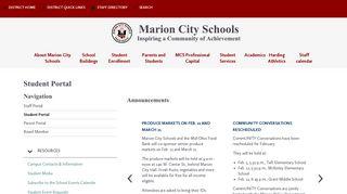 Student Portal - Marion City Schools