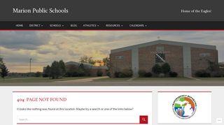 Powerschool - Marion Public Schools