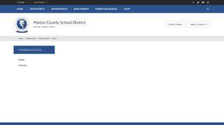 PowerSchool / Home - Marion County School District