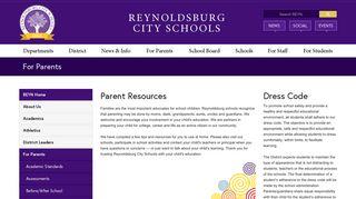 For Parents - Reynoldsburg City Schools