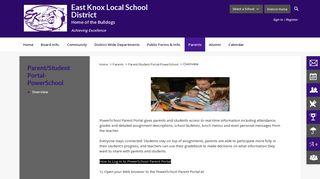 Parent/Student Portal-PowerSchool / Overview