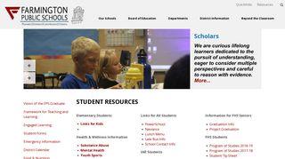 Student Resources - Farmington Public Schools