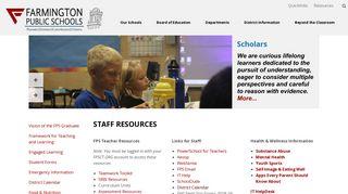 Staff Resources - Farmington Public Schools