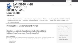 PowerSchool Student/Parent Portal | San Diego High School of ...