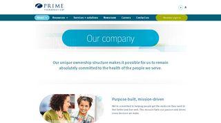 Our company   Prime Therapeutics