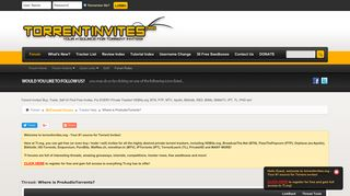 Where is ProAudioTorrents? - Torrent Invites