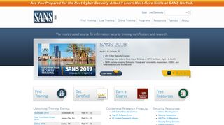 Information Security Training | SANS Cyber Security Certifications ...