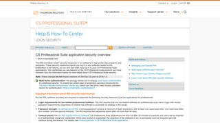 CS Professional Suite application security overview