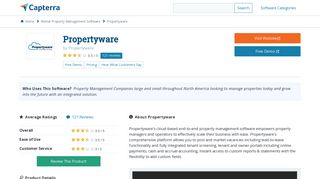 Propertyware Reviews and Pricing - 2019 - Capterra