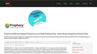 Prophecy Healthcare Expands Product Line to Include Prophecy Prep ...