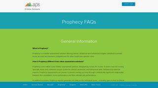 Prophecy FAQs - APS