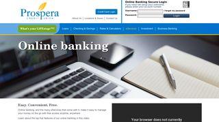 Online Banking - Prospera Credit Union
