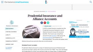 Prudential Insurance and Alliance Accounts