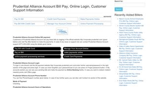Prudential Alliance Account Bill Pay, Online Login, Customer Support ...