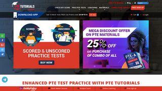 PTE Tutorials: PTE Academic Test - Practice Online for Free