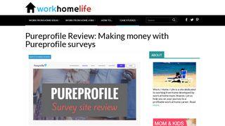 Pureprofile Review: Making money with Pureprofile surveys - Work ...