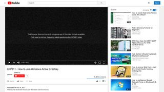 QNP311 - How to Join Windows Active Directory - YouTube