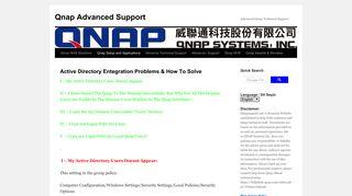 Active Directory Entegration Problems & How To Solve | Qnap ...