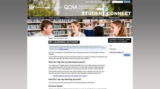 My learning account - Student Connect - Queensland Curriculum and ...