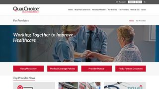 QualChoice Health Insurance | For Providers