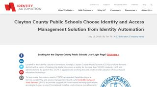 Clayton County Public Schools Choose Identity and Access ...