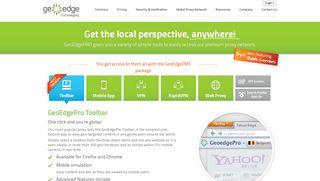 Proxy Toolbar, Mobile Apps, VPN & Web-Proxy   GeoEdge