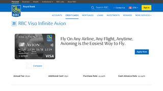 RBC Visa Infinite Avion Credit Card - RBC Royal Bank