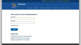 log in to your account - RBC Rewards
