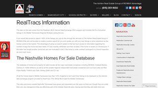 RealTracs Information - Ashton Real Estate Group