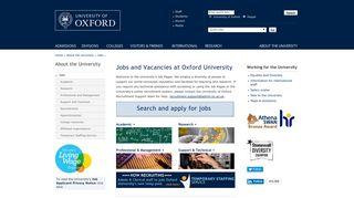Jobs and Vacancies at Oxford University - University of Oxford