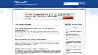 Search after red hot penny shares in FSPInvest.co.za