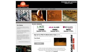 Red Hot Penny Stock   The World's Best Penny Stock Newsletter