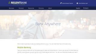 Bank Anywhere › Regent Bank
