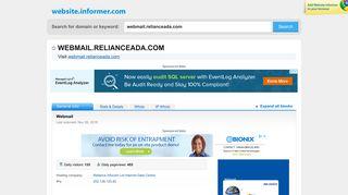webmail.relianceada.com at Website Informer. Webmail. Visit Webmail ...