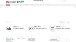 Bartleet Religare Securities: Home