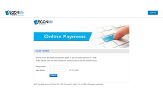 Renew Insurance Policy Online - Make Payment Online - Aegon Life