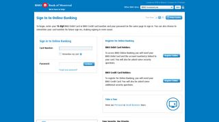 BMO Bank of Montreal Online Banking