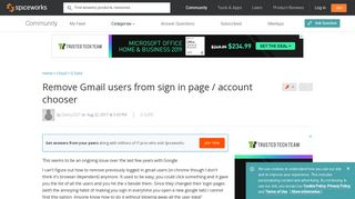 Remove Gmail users from sign in page / account chooser - Google ...
