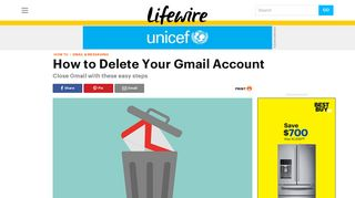 How to Delete a Google Gmail Account - Lifewire