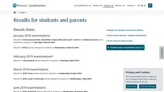Results for students and parents | Pearson qualifications