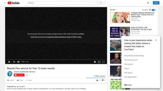 Results Plus service for Year 10 exam results - YouTube