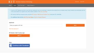 Login - Rochester Institute of Technology