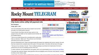City touts online utility bill payment site - Rocky Mount Telegram