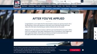 Royal Navy - Post Application   Choosing a Branch & Service