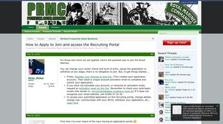 How to Apply to Join and access the Recruiting Portal - Royal Marines