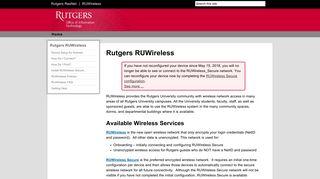 RUWireless - Rutgers University