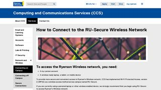 How to Connect to the RU-Secure Wireless ... - Ryerson University