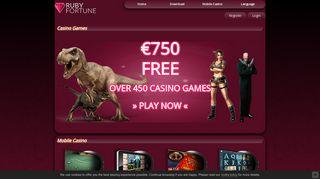 Ruby Fortune Online Casino | Claim YOUR Generous Bonus!